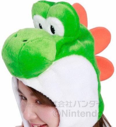 Yoshi head cap