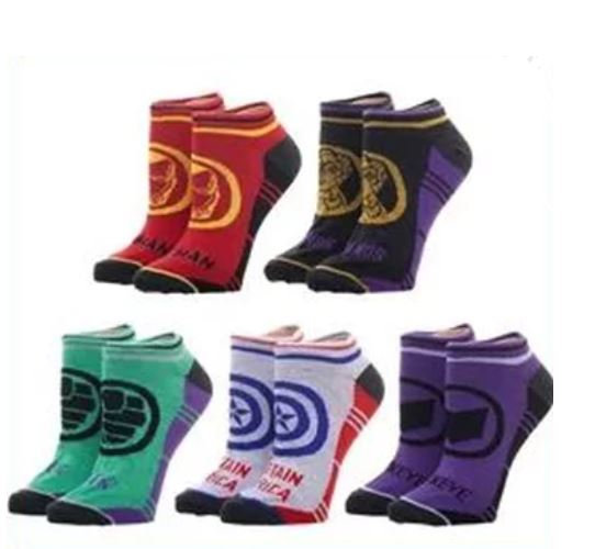 Women Marvel Avengers Endgame 5 Pair Socks