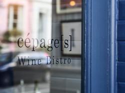 Cepages Wine Bistro Window