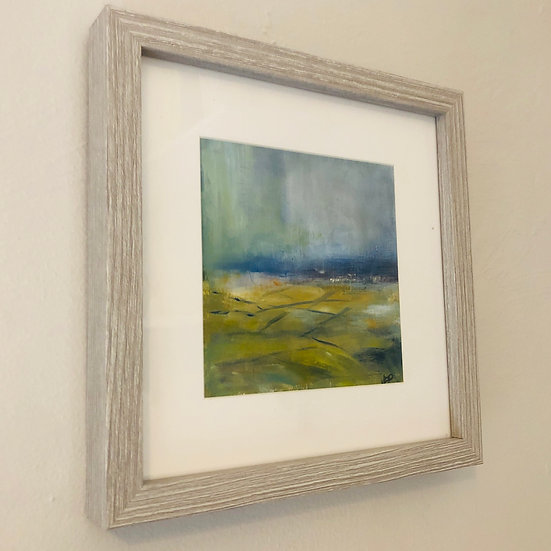 Original impressionistic oil painting from the Vale of Evesham over to the Malvern Hills