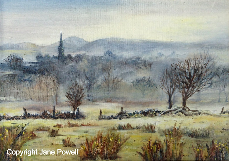'Frosty Morning in the Cotswolds' Oil 14x10in