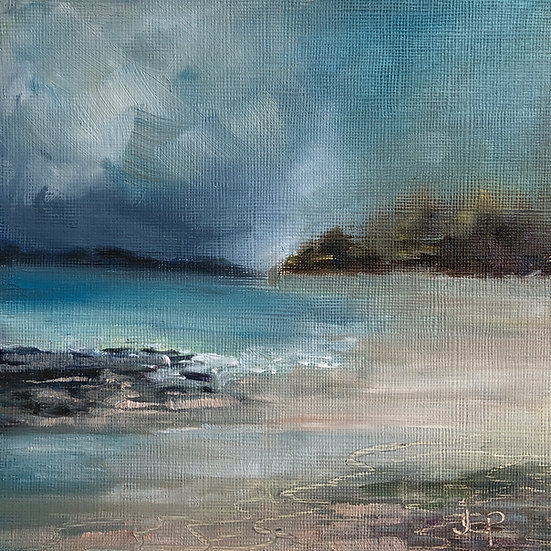 Framed Print - Windswept Beach