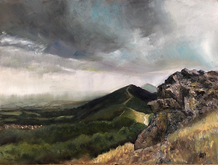 Rain Over the Malverns - Original Oil Painting