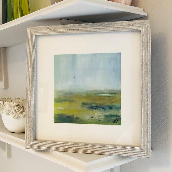 'Misty Malvern View 2 - Soft Light' Oil 6x6in