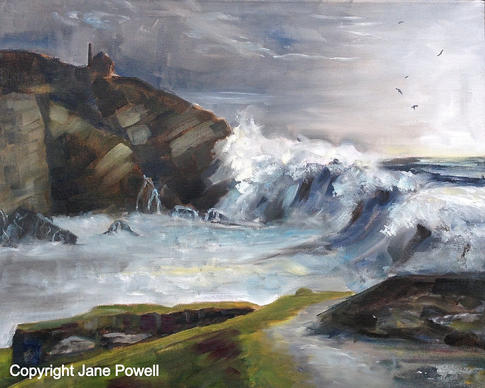 'Cadgwith Cove, Cornwall' Oil on 20x16in box canvass