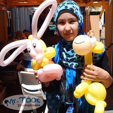 Balloon Animals at University Open Days