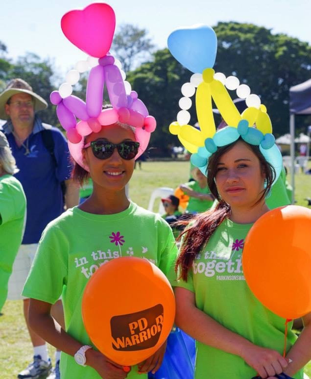 Balloon Tiaras for Parkinson's Walk in the Park