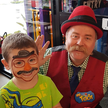 Mr. Moustache with Mr. Toot