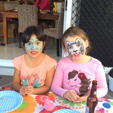 Two very happy little ones at their party