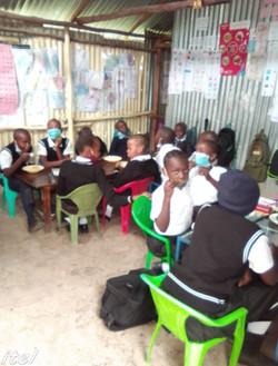 Children in Class at Church School in Kenya