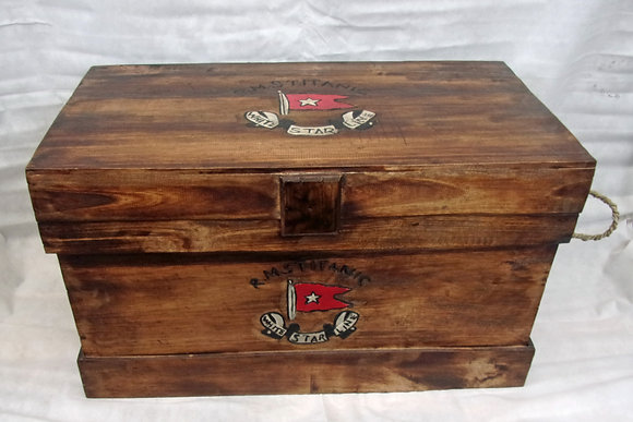 Large Titanic Steamer Trunk Coffee Table