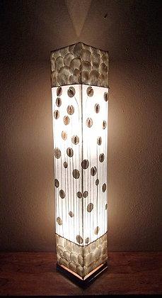 White Flower Stem  Designer Bali Lamp 100cm