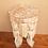 Thumbnail: Hand Carved Elephant Table Shabby Chic Shabby Wash stool