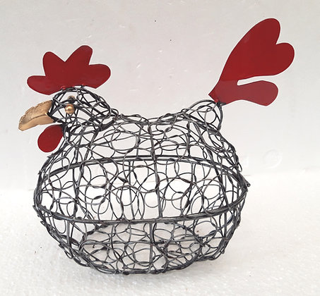 Unusual Wire Chicken Egg Basket Hen Egg Holder Storage