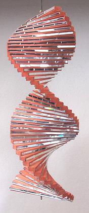 Giant Mirror Wind Twister Orange Spiral Wind Spinner 40cm