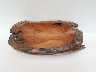 Hand Carved Root Wood Fruit Bowl