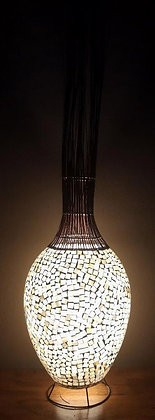 Gold Cream Mosaic Glass Bali Lamp 145cm