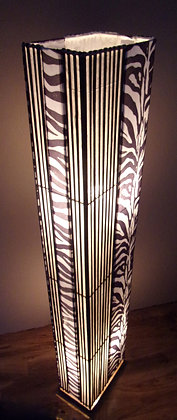 Zebra Floor Lamp Black & White Bamboo Floor Lamp 148cm