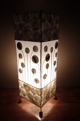 White Flower Stem Lamp Designer Bali Shell Lamp 50cm