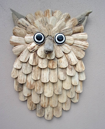3D Driftwood Owl Wall Plaque