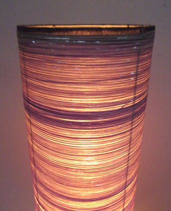 Coffee Brown Silver Cylinder Lamp 148cm