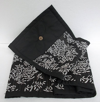 Unusual Hand Made Bali Table Runner -Black & White