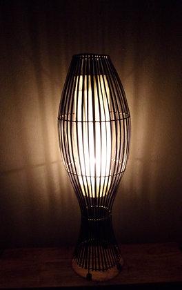 Bamboo Bird Cage Lamp - Dark Bamboo & Natural100cm