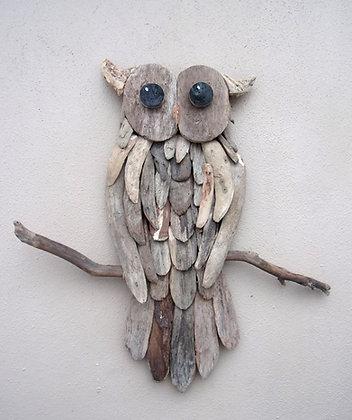 Driftwood Owl Wall Art 60cm
