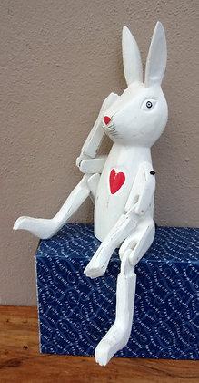 Hand Made Rustic Rabbits Shelf Sitter Shabby Chic 36cm