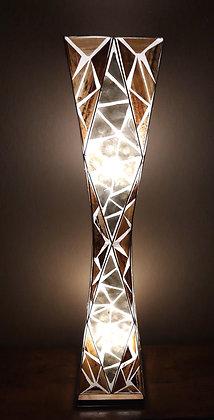 Unusual Banana Leaf & White Shell Tapered Lamp Bali Shell Lamp 100cm