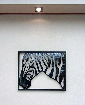 Unusual Zebra Wall Art Hand Made Metal Zebra Wall