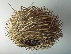 Unusual Birds Nest Rattan Lamp Shade