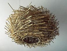 Unusual Birds Nest Rattan Lamp Shade