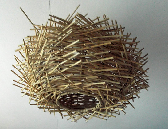 """Birds Nest""ceiling lamp shade-Twisted Rattan 35cm"