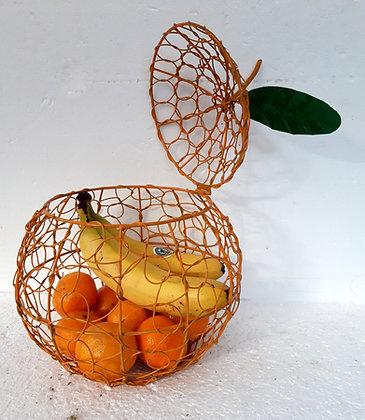 Orange Fruit cage Twisted Wire Fruit Basket