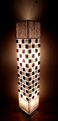 Natural Shell Squares Lamp 100cm