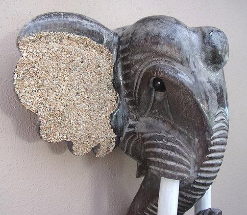 Sand Eared Elephant Head Wall Plaque - 40cm