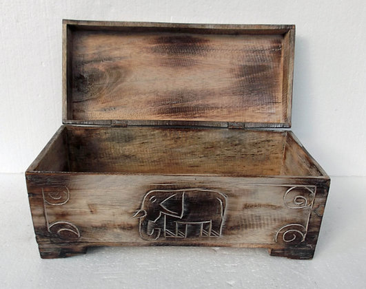 Unusual Hand Carved Elephant Trunk Elephant chest