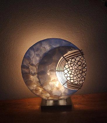 Small 3D bali moon lamp -Shell and Bamboo
