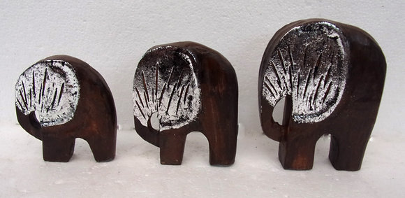 Unusual Contemporary Shabby Chic Elephant Set