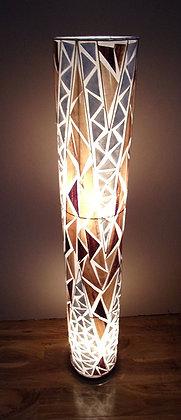 Banana Leaf & White Shell Cylinder Lamp 148cm