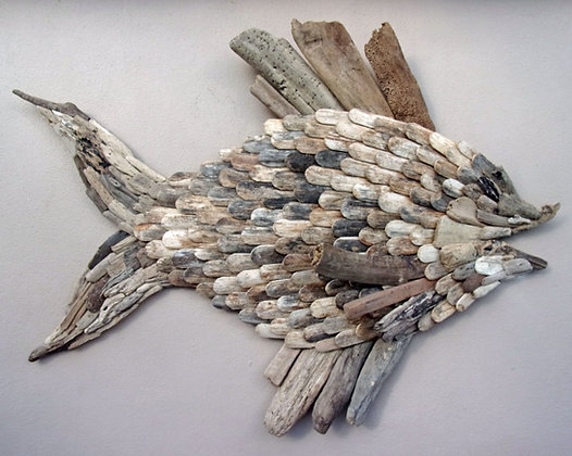 Giant Driftwood Wall Fish