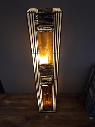 Jungle flame bamboo & Coconut Stem Floor Lamp 148cm