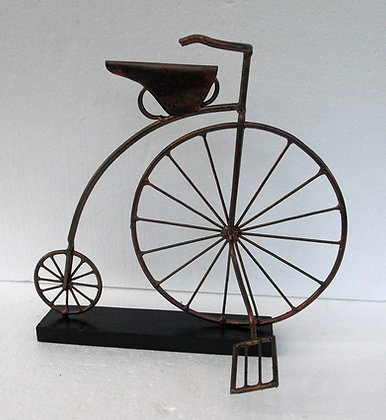 Unusual Copper Penny Farthing Ornament - Hand made