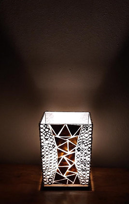 Gold Shell & Bamboo Box Lamp - Medium 40cm