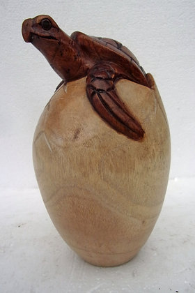 Giant Hand Carved Turtle in Egg