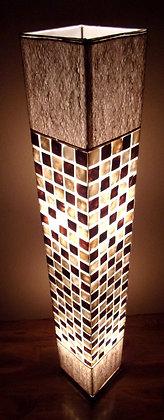 Natural Shell Squares Lamp  148cm