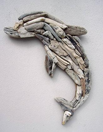 3D Driftwood Dolphin Wall Plaque