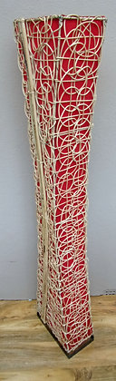 Bamboo &Rattan Contemporary Red Bali Floor Lamp