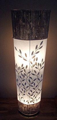 White Shell Petal Tree & Weave Oval Lamp